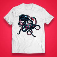 "T-shirt ""Cinephile octopus"""