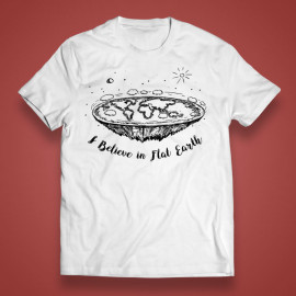 "T-shirt ""I believe in Flat Earth"""