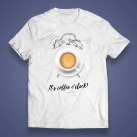 "T-shirt ""It's coffee o'clock!"""