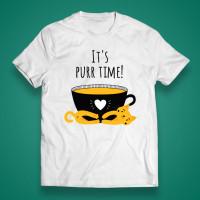 "T-shirt ""It's Purr time"""