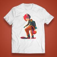 "T-shirt ""Manga snowboarder"""