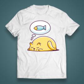"""T-shirt """"Sleeping cat"""""""