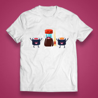 "T-shirt ""We love sushi"""